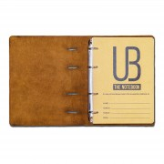 Agenda din piele naturala The Notebook by URBAN BAG dimensiune A5 - Golden Brown