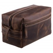 Toiletry bag hand made din piele naturala URBAN BAG Travel XL – Golden Brown